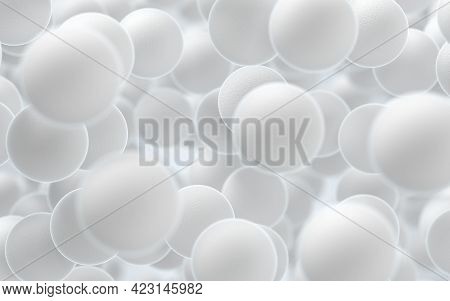 Large Groups Of Streptococcus With White Background, 3D Rendering.