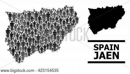 Map Of Jaen Spanish Province For Demographics Posters. Vector Demographics Abstraction. Abstraction