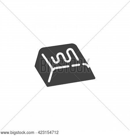 Chocolate Bar Piece Vector Icon. Filled Flat Sign For Mobile Concept And Web Design. Piece Of Chocol