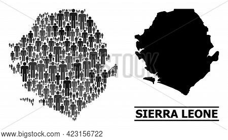 Map Of Sierra Leone For Politics Projects. Vector Nation Abstraction. Abstraction Map Of Sierra Leon