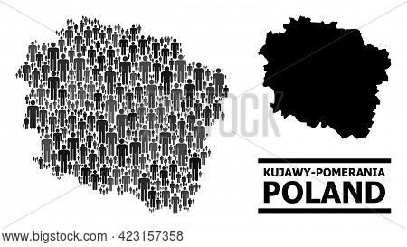 Map Of Kujawy-pomerania Province For National Projects. Vector Nation Abstraction. Concept Map Of Ku