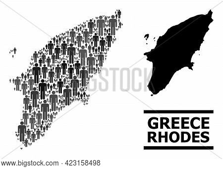 Map Of Rhodes Island For Demographics Proclamations. Vector Demographics Abstraction. Abstraction Ma
