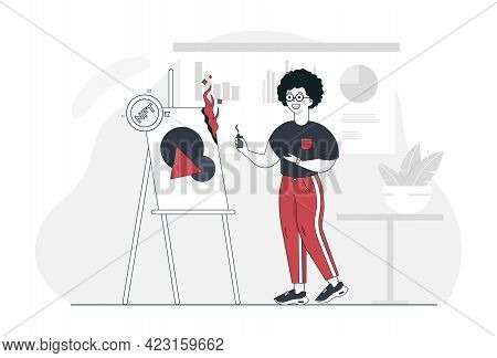 Nft. Non Fungible Token. Crypto Art. Vector Illustration. Man Burned The Painting And Turned It Into
