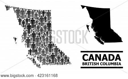Map Of British Columbia Province For Social Agitprop. Vector Nation Abstraction. Concept Map Of Brit