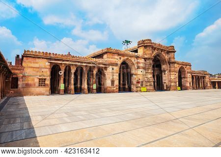 Jama Masjid Or Jumah Mosque Is A Main Mosque In The City Of Ahmedabad, Gujarat State Of India