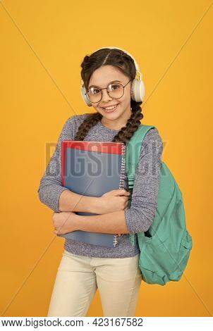 Modern Schoolgirl Daily Life. School Club. School System Functions. Private Schooling. Teen With Bac