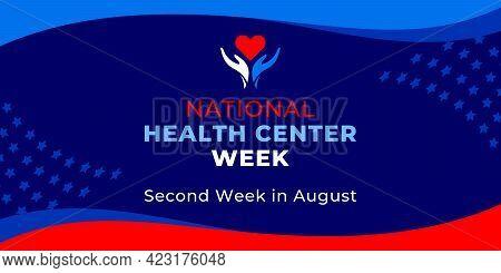 National Health Center Week. Vector Web Banner For Social Media, Poster, Card, Flyer. Text National