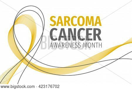 Sarcoma Cancer Awareness Month Banner. Symbol Of The Fight Against Sarcoma Cancer.