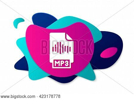 Color Mp3 File Document. Download Mp3 Button Icon Isolated On White Background. Mp3 Music Format Sig