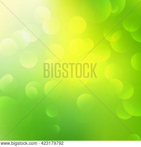 Summer Blurred Background. Bokeh Light Blur For Background. Light Soft Blurred Colors In Bright Suns