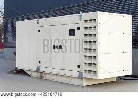 Big Diesel Generator For Emergency Electric Power.