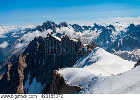 Mont Blanc Or Monte Bianco Meaning White Mountain Is The Highest Mountain Range In The Alps And In E