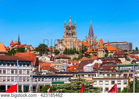 Cathedral Of Notre Dame Of Lausanne Is A Church Located In The City Of Lausanne, In The Canton Of Va