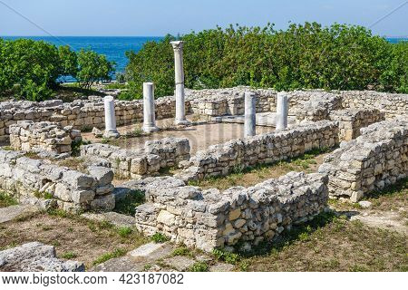 Remains Of Ancient Christian Temple Known As Basilica Within Basilica. Church Was Built In Vi Ad. In