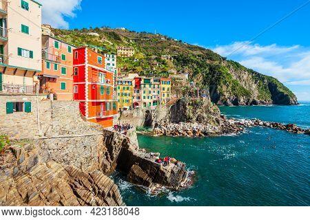 Riomaggiore Is A Small Town In Cinque Terre National Park, La Spezia Province In Liguria Region, Nor
