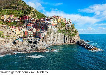 Manarola Is A Small Town In Cinque Terre National Park, La Spezia Province In Liguria Region, Northe