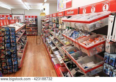 Nuremberg, Germany - May 7, 2018: Assorted Houseware Object Shop In Nuremberg, Germany. Total Retail