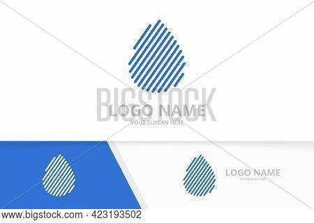 Water Drop Logo Combination. Nature Energy Droplet Logotype Design Template.