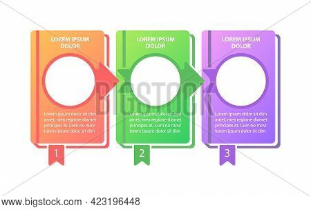 Educational Research Vector Infographic Template. Learning Steps Presentation Design Elements With T