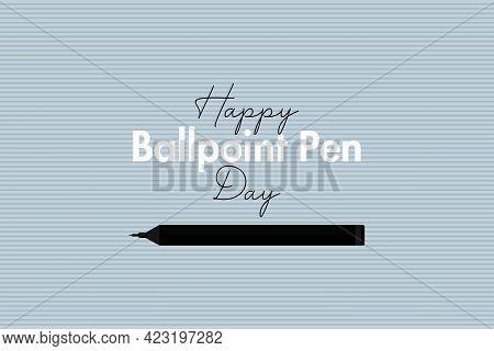 National Ballpoint Pen Day Vector Illustration. Pen Symbol Vector Illustration.