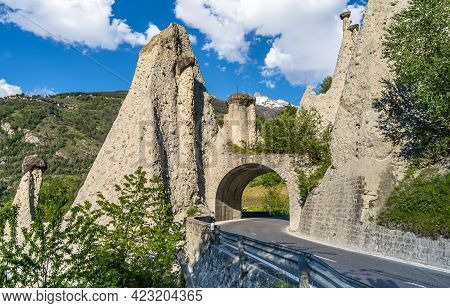 The Natural Earth Pyramids Of Euseigne In The Valley Of Herens Are One Of Switzerland's Most Importa