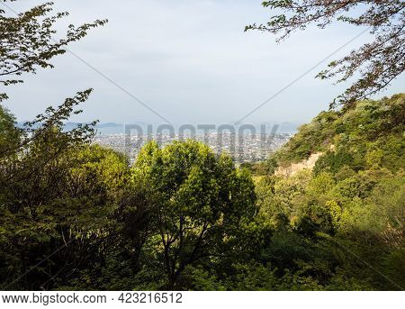 Scenic View Of Imabari City And Seto Inland Sea From An Overlook Near Senyuji, Temple Number 58 Of S