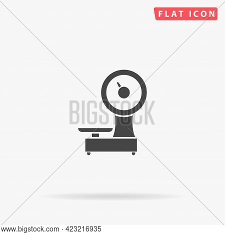 Weigher Scales Flat Vector Icon. Hand Drawn Style Design Illustrations.
