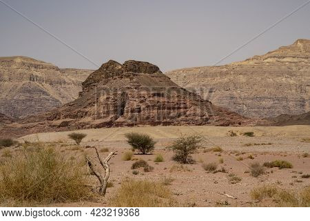 Rock Formations In The Timna Valley Desert Park In Southern Israel.