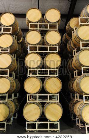 Wine Barrels Straight View