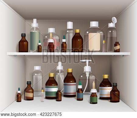 Medical Bottles Elements Collection. Medical Bottles Vector Illustration. Medical Bottles Decorative