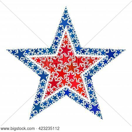 Inner Star Collage Of Stars In Variable Sizes And Color Shades. Inner Star Illustration Uses America