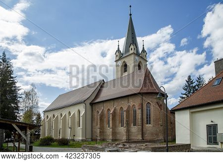 Targu Mures, Mures, Romania - April 23, 2021:  The Reformed Church From Medieval Fortress On April 2