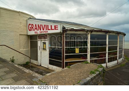 Ramsgate, United Kingdom - May 22, 2021: Outside The Main Foyer Of The Granville Theatre. Currently
