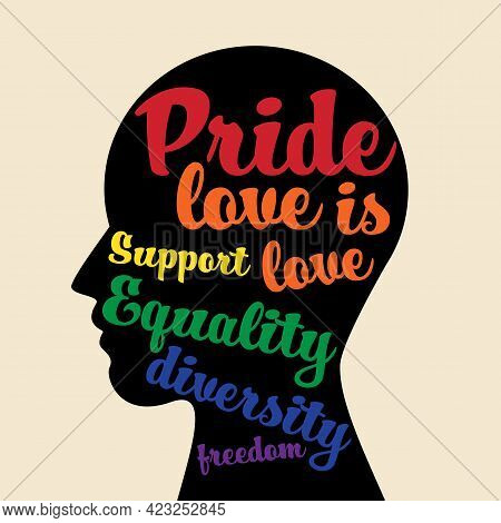 Lgbtq Community Pride Month Poster Design Template Background. Design Element Can Be Used For Backdr