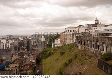 Salvador Bahia Brazil, December 3, 2011: The Rundown Homes And Buildings That Are Found Throughout T