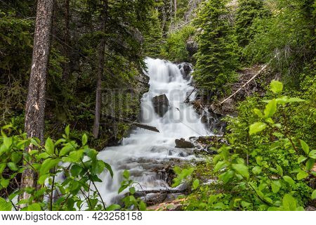 A Narrow Stream Of Water In Lewis And Clark Cavern Sp, Montana