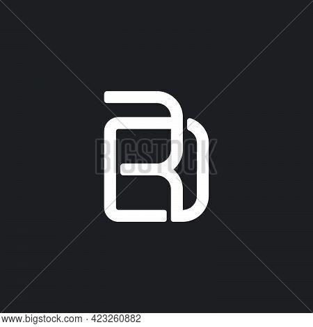 Letter Rd Simple Overlapping Geometric Line Logo Vector
