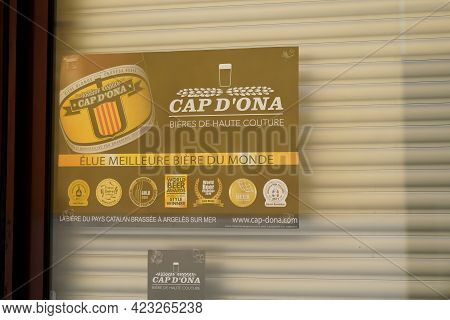 Bordeaux , Aquitaine France - 06 06 2021 : Cap D'ona Logo Text And Brand Sign Of Catalunya Beer From