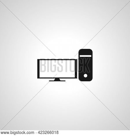 Computer Pc Isolated Vector Icon. Computer Pc Isolated Vector Icon. Computer Pc Isolated Vector Icon