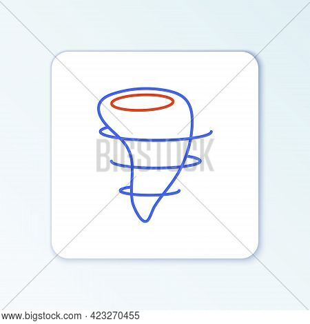 Line Tornado Icon Isolated On White Background. Colorful Outline Concept. Vector