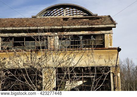 Olona Valley (va), Italy - April 01, 2021: Old Factories And Industrial Archeology.