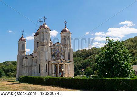 Constanta, Romania - August 04, 2020: Saint Andrew Cave Monastery Near Ion Corvin, Constanta, Romani