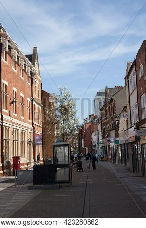 Views Along The High Street In Maidenhead, Berkshire In The Uk, Taken On The 30th March 2021