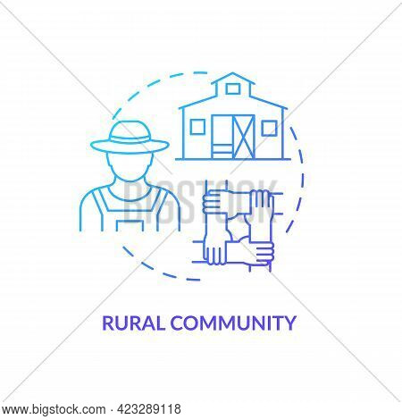 Rural Community Concept Icon. Communities Types Abstract Idea Thin Line Illustration. Rural Househol