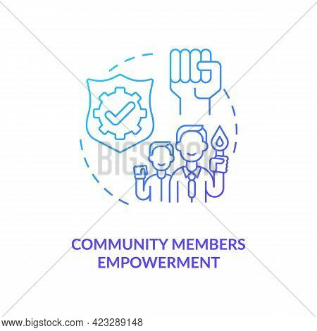 Community Members Empowerment Concept Icon. Civic Engagement Abstract Idea Thin Line Illustration. B