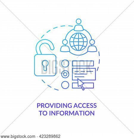 Providing Access To Information Concept Icon. Society Development Abstract Idea Thin Line Illustrati