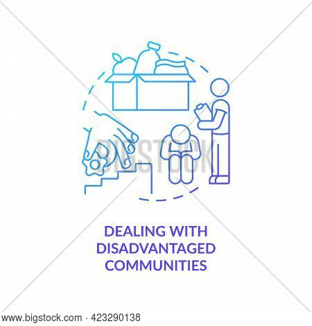 Dealing With Disadvantaged Communities Concept Icon. Protection From Social Injustice Abstract Idea