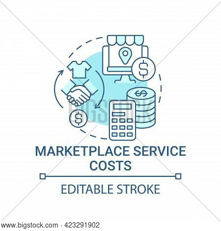 Marketplace Service Costs Concept Icon. Choice Parameter Abstract Idea Thin Line Illustration. Produ