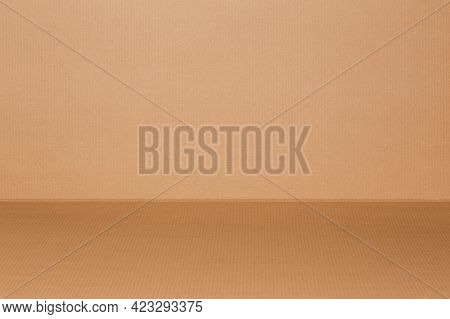 New Clean Corrugated Cardboard Texture And Background
