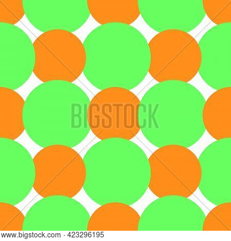 Circle Dot Colors Seamless Pattern Textile Print. Great For Summer Vintage Fabric, Scrapbooking, Wal
